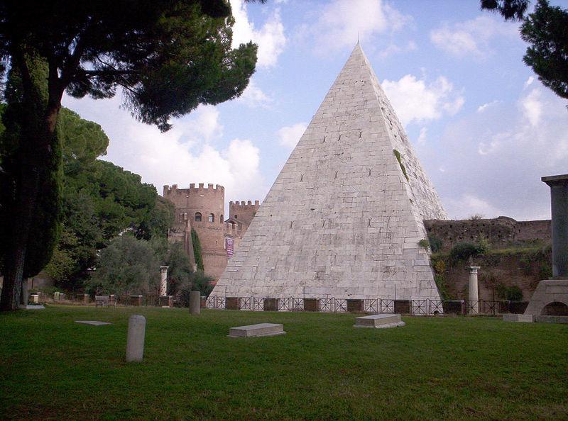 Pyramid of Cestius today