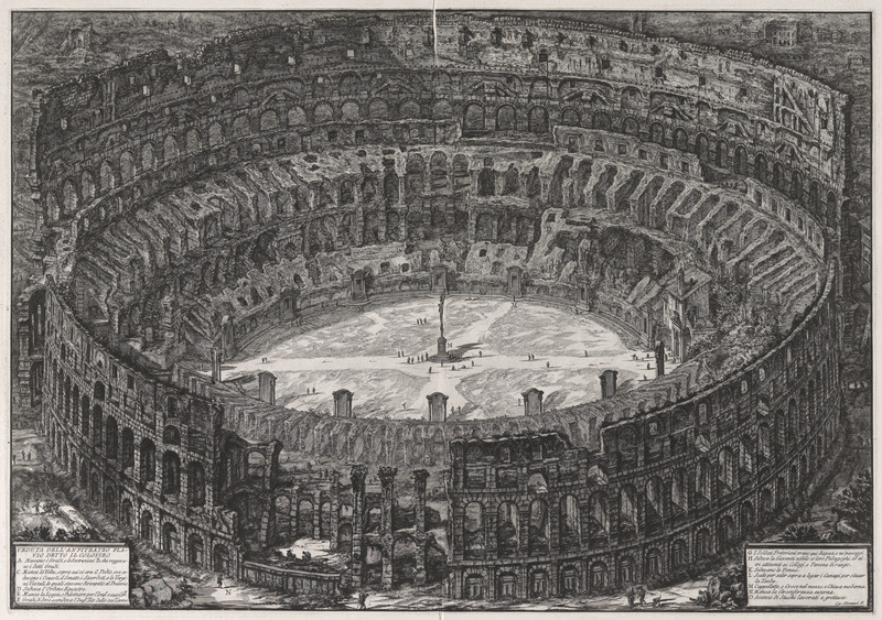 Piranesi View of the Flavian Amphitheater Called the Colosseum