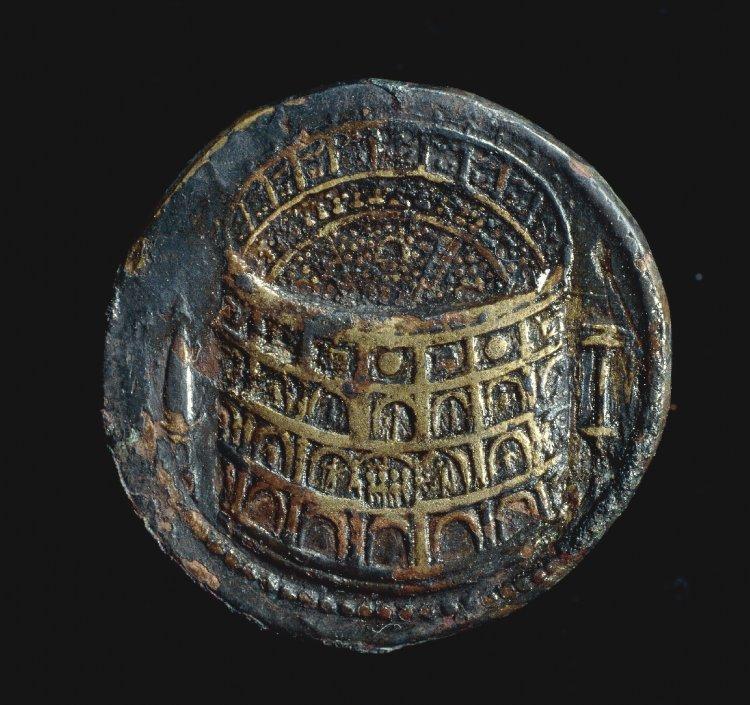 Coin representing the Flavian Amphitheatre