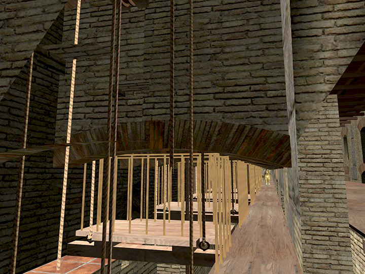 Digital rendering of the Colosseum's substructures.