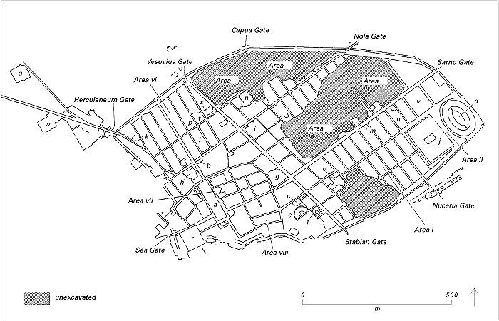 map of pompeii