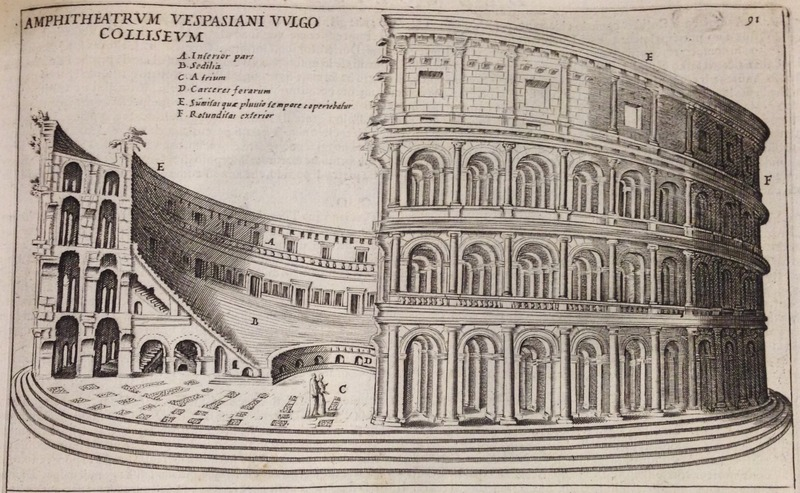 Lauro cutaway illustration of the Colosseum.
