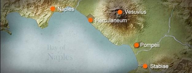map of pompeii and herculaneum