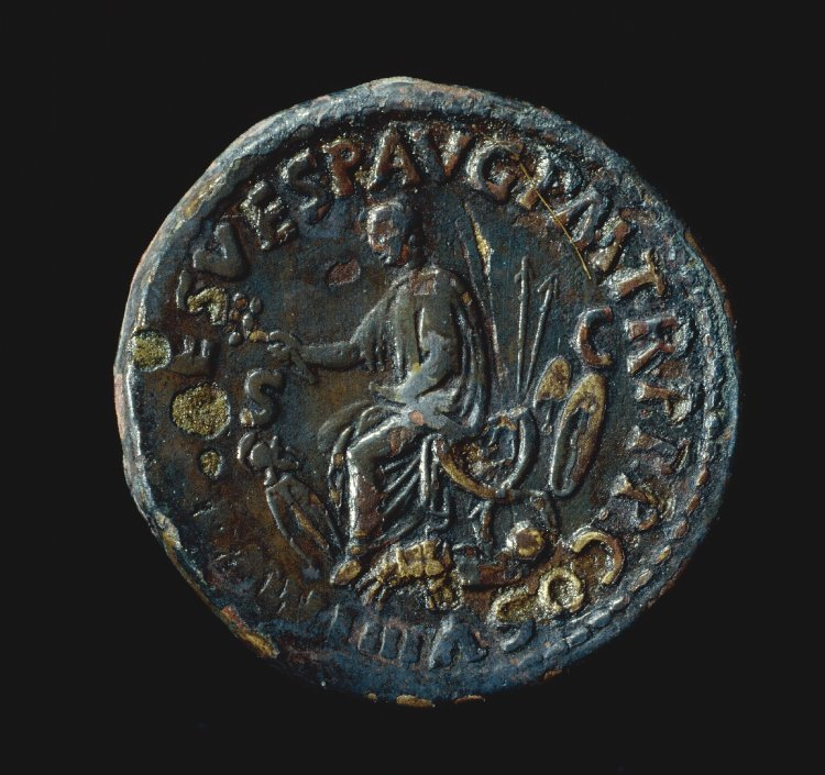 Coin representing the emperor Titus