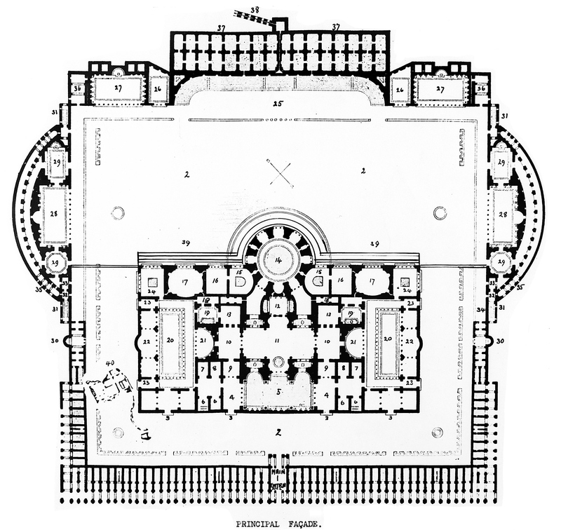 Baths of Caracalla Layout