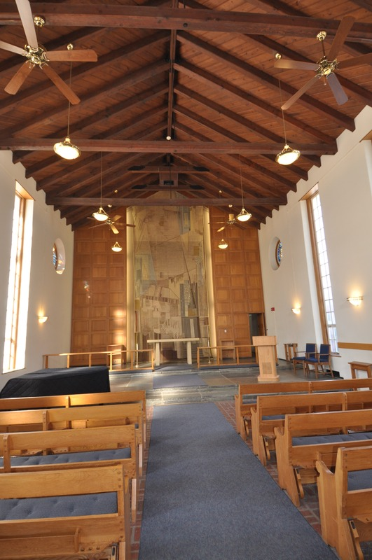 interior of the Helen Eakin Eisenhower Chapel