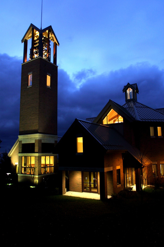 Smith Chapel at night