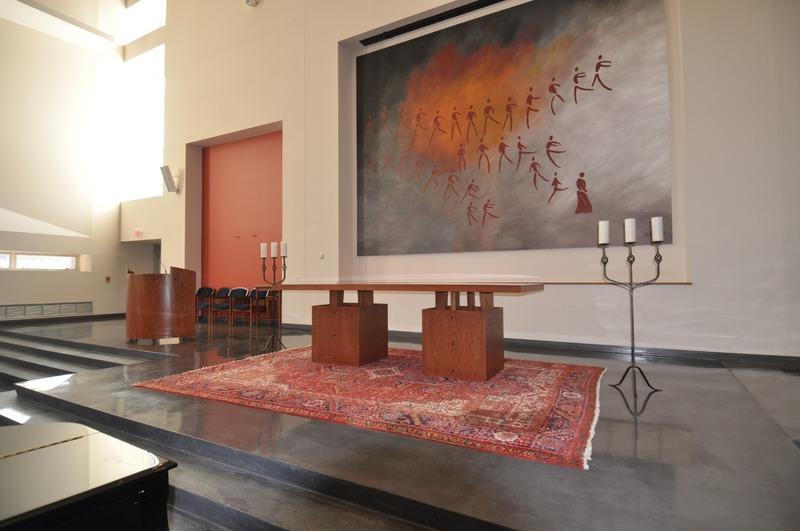 interior of the worship space of the Pasquerilla Spiritual Center